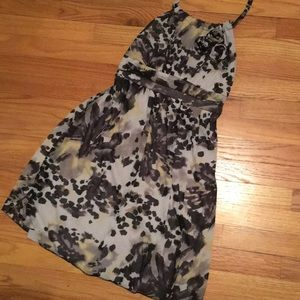 Print Halter Top Dress